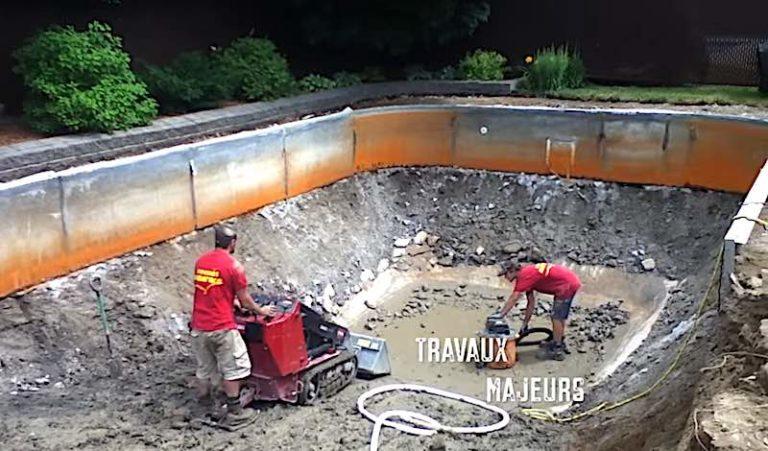 Réparation piscine creusée
